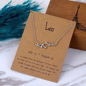 Jewelry - LEO Constellation Zodiac Pendant Necklace & Card